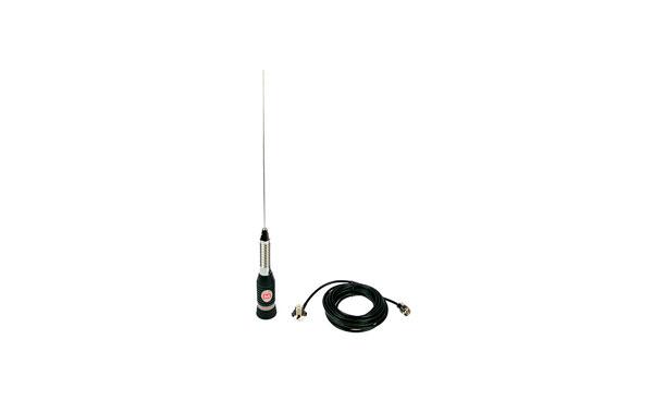 MIRMINDON BRAVO-150.  Antena CB 27 Mhz, 148 cm., con muelle + base rosca PL + cable 5,5 mts, Longitud antena 148cm