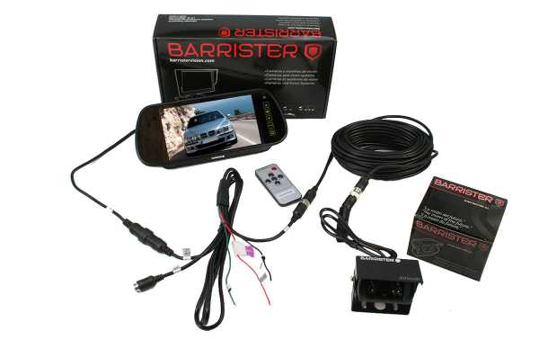BARRISTER BRV-15 Rearview system 7-inch Monitor-Rearview camera 1 BRV-400 camera 10 meters extension cable CA-10