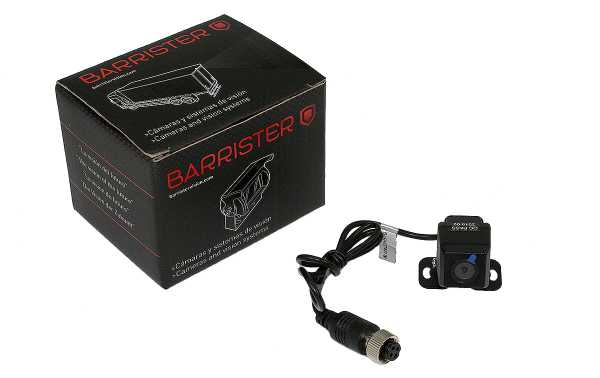 BRV180 BARRISTER camera rear view miniature CMOS 12 V, small camera with articulated support, does not have night vision.