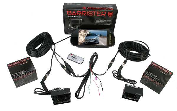 BARRISTER BRV-15-KIT2 Retrovision system Monitor BRV-515 7-inch rear-view mirror 2 camera BRV-400 x 2 cables10 meters extension cable CA-10.