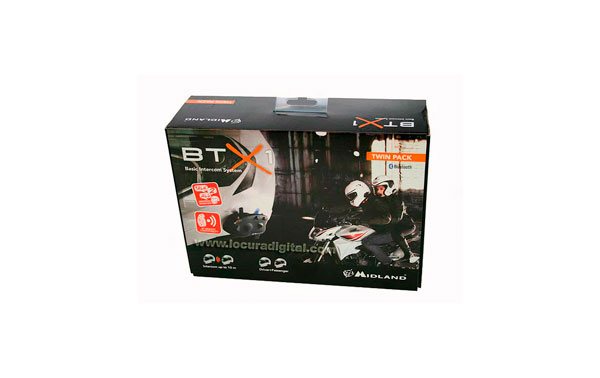 BTX1TWIN MIDLAND ALAN BTX1 TWIN manos libres intercomunicador de moto Piloto y copiloto