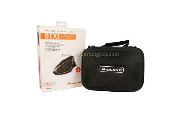 MIDLAND BTX1 PRO SINGLE Intercomunicador universal Bluetooth 4.2 con radio FM y RDS