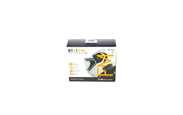 BTX1FMSINGLE MIDLAND manos libres-intercomunicador para moto bluetooth