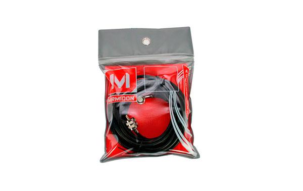 CDV55 MIRMIDON Conexión DV conector acodado + 5,5 mts. RG58 +  PL259 macho