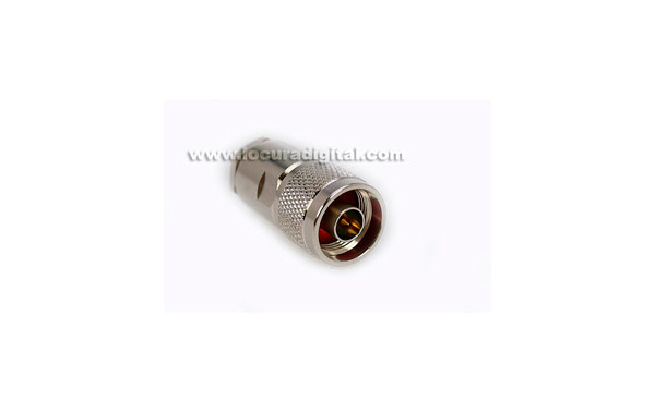 N MALE connector MARCU CON02080002 Air soldar.Para UF-287 RF cable, cable diameters 7.3 mm 1.9 mm live