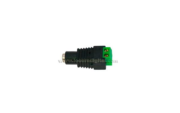 CON0890 JACK Hembra Adaptador allimentación de 2,0 x 5,5 mm. a regleta 2 salidas