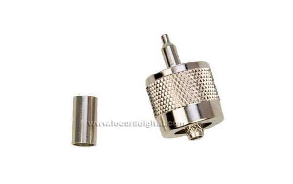 CON1315 PL-259 Conector macho Crimp para RG-58