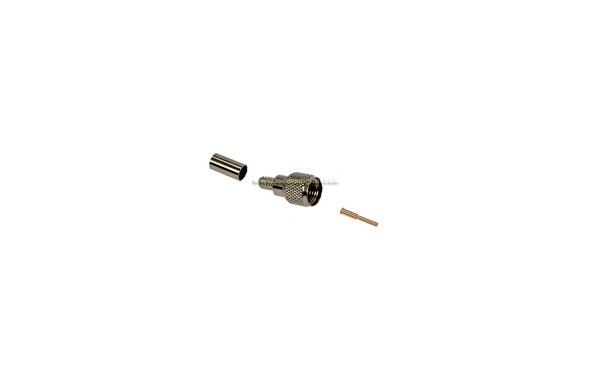 CON1444 Conector MINI UHF Macho para cable RG-58, Tipo CRIMPAR
