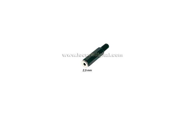 CON218B Conector jack hembra 2,5 mm. estereo