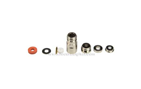 CON2242 CONNECTOR N FEMALE AERIAL FOR RG-58, PTFE