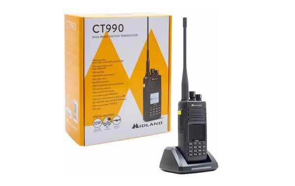 Midland CT-990 Walkie Doble Banda VHF-144 -UHF-430 Mhz proteccion IP67