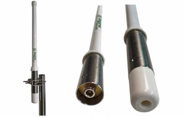 antena collinear CVX425 Tagra 400-450 Mhz profissional de fibra de vidro. 0 dB