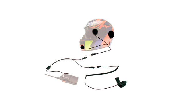 NAUZER KIM-55-M2. Kit moto casco integral para walkies MOTOROLA y COBRA.