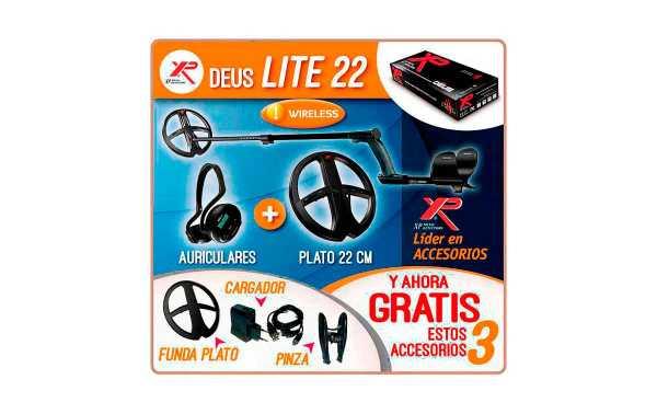 XP DEUS LITE  METAL DETECTORS PLATO DE 22