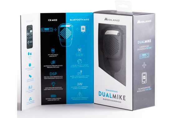 Dual Mike is the new CB microphone that debuts online with the Bluetooth connection that allows connection to a smartphone.