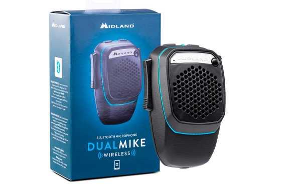 MIDLAND DUAL MIKE WIRELESS CB + microfone sem fio duplo Bluetooth para smartphone