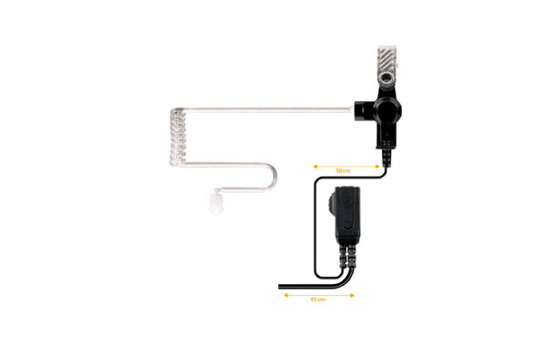NAUZER PIN39M4.Micro Auricular tubular para walkies MOTOROLA PROFESIONALES series GP-320, 340, 360, 380, etc.