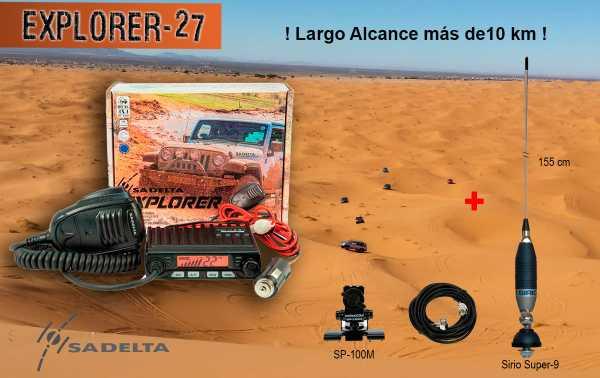 SADELTA EXPLORER-27 KIT SIRIO SUPER-9 Emisora CB 27 Mhz Canales 40 AM / FM