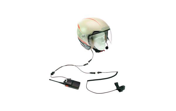 KIM-66-Y  kit para moto de Microfono tipo pertiga y doble auricular para casco