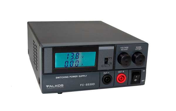 FALKOS FC-SS30D Switching Power Supply 220volt AC / 13,8DC (adjustable 9-15 v), 30 Amps.