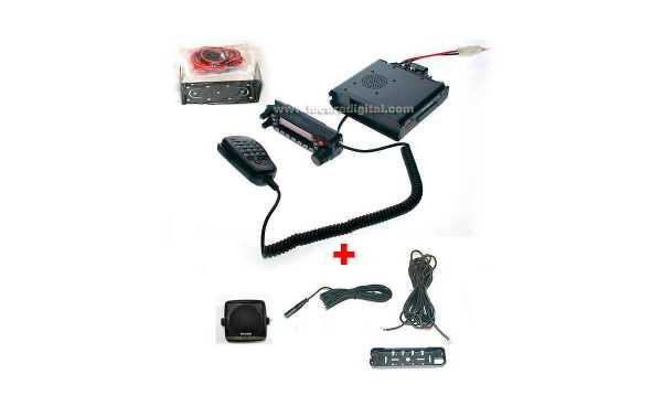 YAESU FT 7900 E EMISORA  BIBANDA VHF/UHF CARATULA EXTENSIBLE + ALTAVOZ .