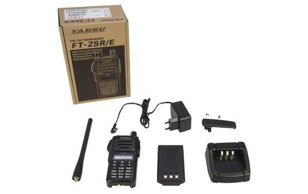 Talkie Walkie YAESU VHF FT25E 144- 146 MHz Puissance 5 W
