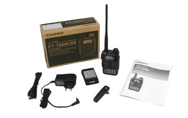 Yaesu FT-70DR / DE Walkie talkie analog and digital bibanda 144/430 Mhz