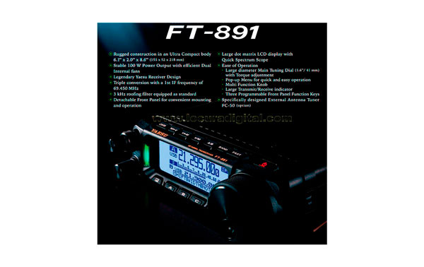 The FT-450 is a compact HF category and superior performance, in its design incorporating the latest technological advances developed by Yaesu