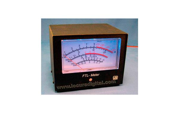 FTL METER Medidor LDG Retroiluminado Azul para YAESU FT897 Y FT857 MODELO GRANDE