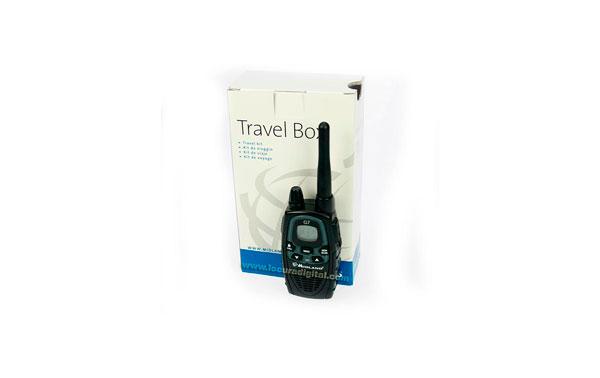 MIDLAND ALAN G7E XT TRAVEL BOX .Kit formado: 1 walkie + clip cinturon +  cargador pared + 1 bateria + pinganillo orejera. !! NUEVO MODELO !!