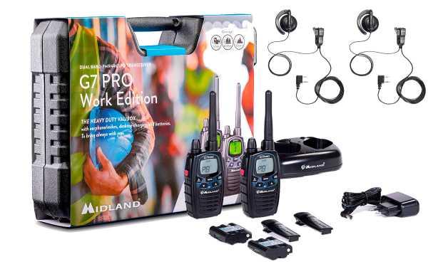 Midland G7 PRO WORK X-2 Pareja de walkie talkies uso libre PMR446