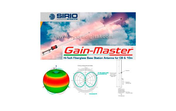 GAIN-MASTER SIRIO Gain-Master antena fibra vidrio 25,5-30 Mhz.736 cms. !! NUEVA ANTENA CB 27 MHZ !!