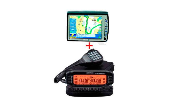 TM-D710 E KENWOOD Emisora Bibanda 144/430 Mhz + NAVEGADOR GEOAST6