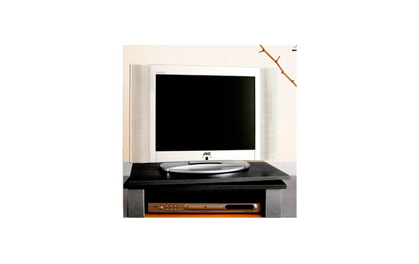 GV1NEGRO Soporte pantalla TV + VIDEO giratorio 60 cms x 38 cms. Color NEGRO