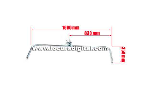 Mirmidon HARD-1660 Soporte horizontal galvanizado doble