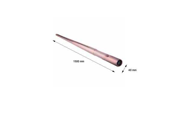 MIRMIDON HARD-401500 Mastro fixo galvanizado 1500 x 40 x 1,5 mm