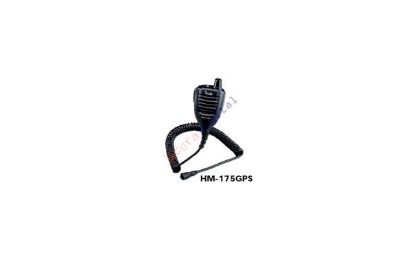 HM-175GPS    Microaltavoz de solapa con GPS, IPX7