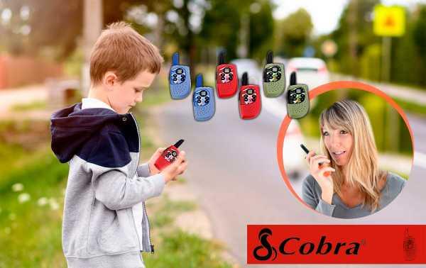 COBRA HM-230-RED Pareja de walkies uso libre color rojo alcance 3 km