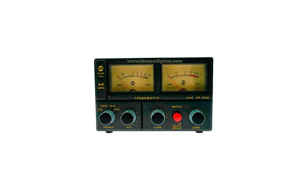 HP1000  ZETAGI transmatch (acoplador de antena) + medidor de 26 a 28 Mhz. 500w