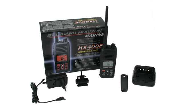 STANDARD HORIZON HX-400-E Walkie VHF banda Marina IPX8 sumergible