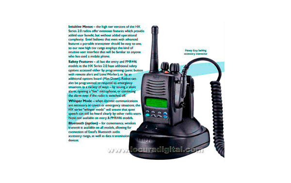 ENTEL HX-415 Mhz frequency 66-88 - Professional Walkie with