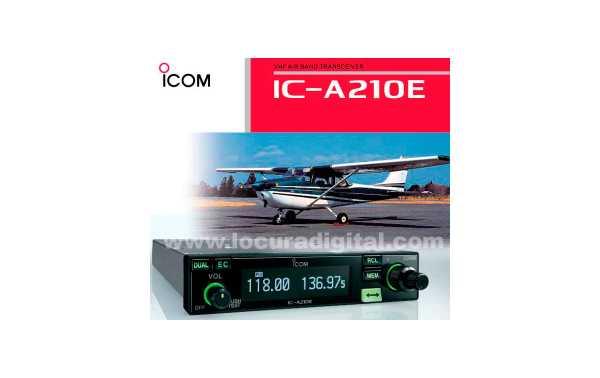Transceptor banda aérea VHF 12/24VDC 6W 8.33/25kHz