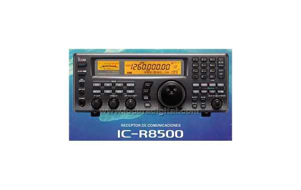 ICOM IC-R8500 Receptor de banda continua de  0,1 - 2000 MHZ