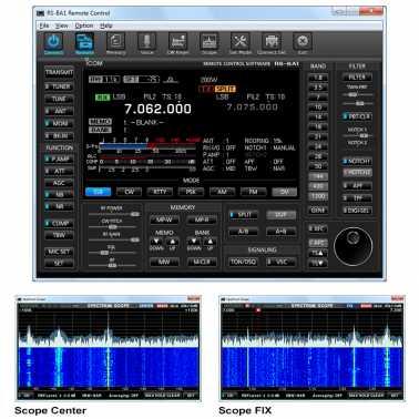 Software control remoto ICOM RS-BA1
