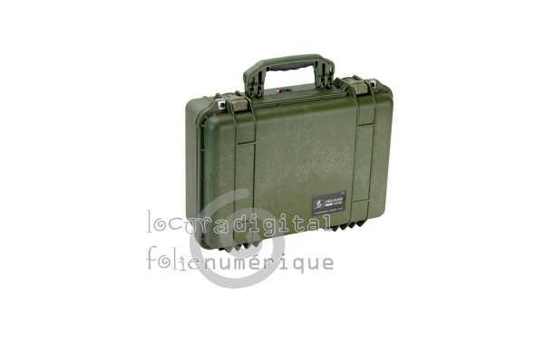 1500000130 Maleta de protección Verde Caqui, con espuma.