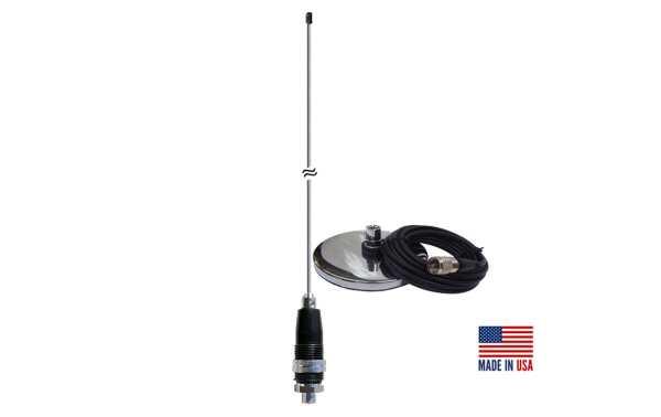 PROCOMM JBC-112-2400 Antena vehiculo base iman 8 cm CB27 Longitud 60cm