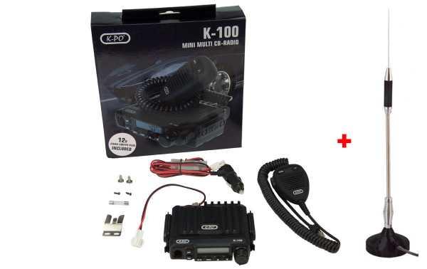 K100V2-EMERGENCY EMISORA MINI CB 40 AM/FM 27 mhz + ANTENA