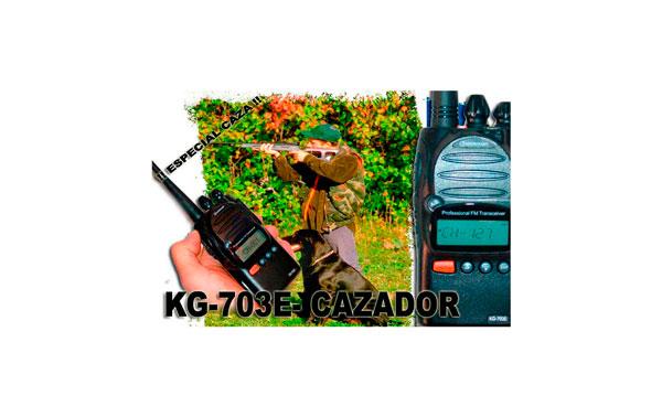 WOUXUN KG703E-CAZA 8 SCRAMBLER Y 128 CANALES DE MEMORIA. WALKIE  VHF   POTENCIA 5 WATIOS