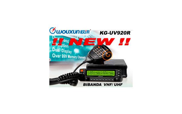 WOUXUN KG-UV-920R EMISORA BIBANDA VHF/ UHF 144/430 MHZ