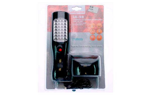 LK28 LAFAYETTE Lampara a leds bajo consumo alta luminosidad bateria recargable